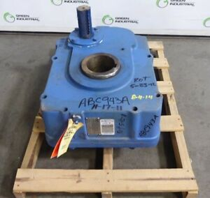 Rebuilt Foote jones Sm h 8407 15 Shaft Mount Screw Conveyor Gearbox 15 1 Ratio