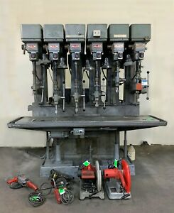 Industrial commercial Allen 6 spindle Gang Drill