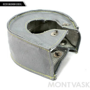 Turbo Blanket Heat Shield Turbocharger Cover Wrap Silver For T4 T04b Gt30 Gt32