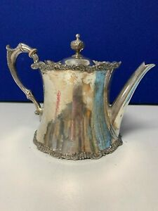 Epbm Silver Teapot 5 High James Dixon Son Markings On Base Date To Pre 1899