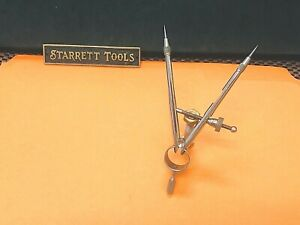 Starrett No 596 Pencil Divider With Spring type Round Legs 3 Inch Capacity