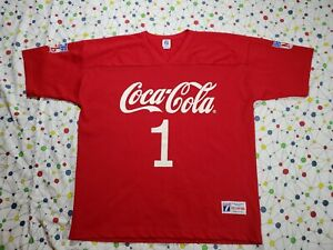 NWOT Vintage Authentic Logo 7 Athletic Coca Cola NFL Jersey Red 2XL XXL