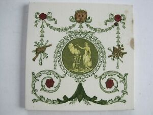 Antique Victorian 6 T R Boote Classical Design Print Tint Tile C1862 1910