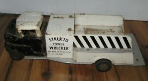 Vtg 1960s Very Rare Structo Truck Power Tow Wrecker Pressed Steel Truck Parts