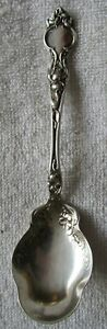 Violet Wallace Sterling Silver Sugar Shell Berry Spoon