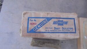 1931 1932 Chevrolet Coupe Sedan Draft Deflector Nos Genuine Gm Pair In Box
