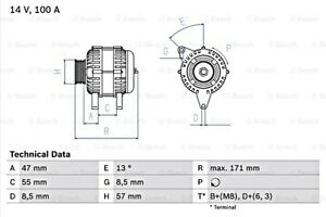 Bosch Alternator 14v For Volvo 850 C70 I S40 S70 V40 V70 Xc70 0986040370