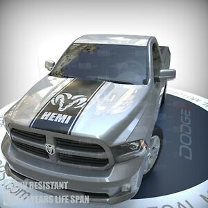 Fits Dodge Ram Decal 3m Vinyl Hemi Truck Racing Stripe Hood Blackout Sticker