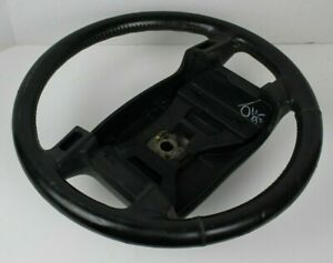 90 91 92 93 Ford Mustang Lx Gt Oem Leather Wrapped Black Steering Wheel 90 93