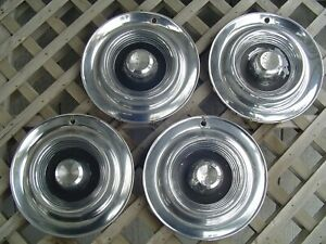 1957 57 Chrysler Windsor Sarstoga Hubcaps Wheel Covers Antique Vintage Classic