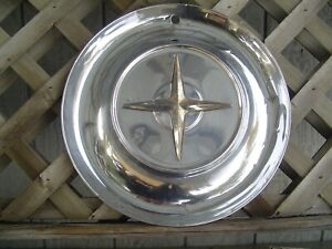 One Vintage1954 54 Chrysler Imperial Lebaron New Yorker Hubcap Wheel Cover