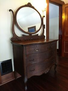 Dresser With Tilting Mirror