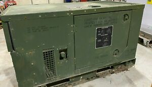 Mep 803a 10kw Diesel Generator Military 120 240 60hz 1 3 Phase 4980 Hours