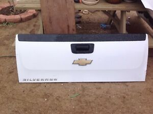 07 13 Silverado Sierra Tailgate Tail Gate Genuine Factory Oem White