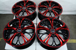 17x7 Red Wheels Fits Toyota Camry C Hr Matrix Prius 86 Celica Corolla Mr2 Rims