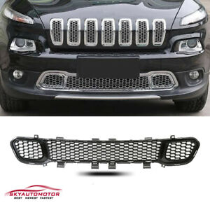 Fit 2014 2015 2016 2017 2018 Jeep Cherokee Lower Grille Matte Black