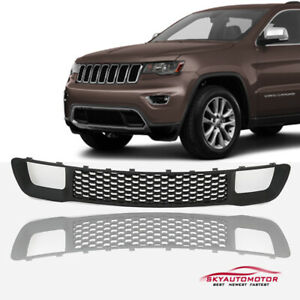 Fit 2014 2015 2016 2017 2018 Jeep Grand Cherokee Lower Grille Black
