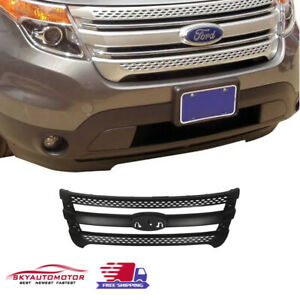 Fits Ford Explorer 2011 2015 Snap On Grille Overlay Front Grill Cover Black