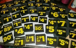 490 Piece Retail Store Price Tag Sign card Assortment Display Lables Sale