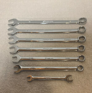 Snap On 7 Piece Combination Wrench B Series Set Sae 12 Point Flank Drive