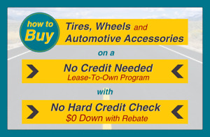 How To Buy 265 45r18 Tires On A No Credit Needed Lease to own Program