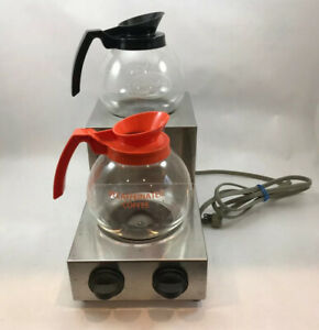 Coca cola Co Restaurant Commercial Stainlessdual Burner Carafe Coffee Warmers