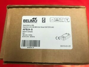 Belimo Afb24 s Open Air Damper Actuator 180 In lb 24vac Dual Switch New In Box