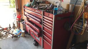 Snap On Tool Box Without Tools Red With Rubber Mat Top