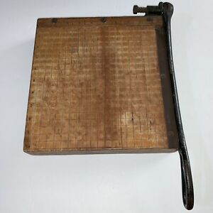 Vintage Ingento No 3 Paper Cutter 10 Guillotine Ideal School Supply Company
