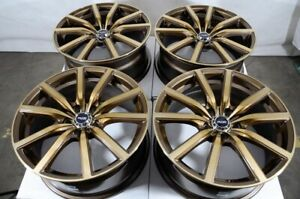 18 Bronze Wheels Fits Honda Accord Civic Hrv Crv Prelude Crz Element Tsx Rims