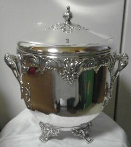 King Francis Reed Barton Ice Bucket 11 1647 3 Qt Ornate Vintage