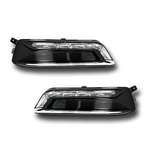 For 14 17 Chevrolet Impala Driver Passenger Drl Fog Light Lamp Assembly 1 Pair