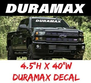 Duramax Decal Diesel Windshield Graphic Window Custom Chevy Vinyl Art Silverado