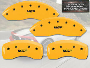 2015 2020 Ford Mustang Gt 5 0 6 Piston Front Rear Ylw mgp Brake Caliper Covers
