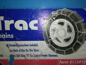 Snow Chains For Cars New In Box Easy on Off Free Ship Peerless Sno Trac