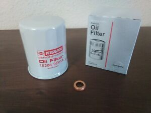 Genuine Nissan Oil Filter 15208 9e01a And Copper Drain Plug Gasket