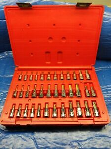 Snap on 236efset 36 piece Allen And Torx Wrench Set Complete Excellent