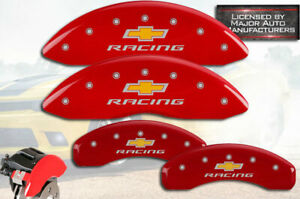 2016 2020 Chevy Camaro Ss Front Rear Red Mgp Brake Disc Caliper Covers Racing