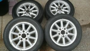 4 Bmw E36 15 X 7 Alloy Wheels With Old Driver School Proxes rockzes