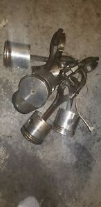 Chevy 235 Pistons L2131 Forged 060 Low Mileage With Rods