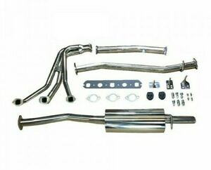 Complete Exhaust System Stainless W Header Muffler Hardware Mgb Gex130hdss