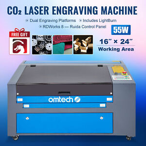 60w 16x24 Co2 Laser Engraver Laser Cutter Machine W Rotary Red Dot Pointer