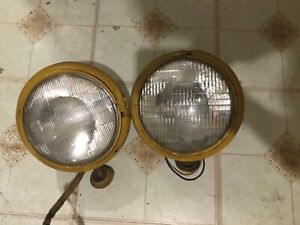 Guide 903 J Headlights Original Pair Ford Chevy Tractor Rat Rod Hot Rod