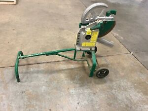 Greenlee 1818 Mechanical Bender W 1 1 4 1 1 2 Emt Shoes Used Good Condition