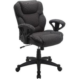 Manager Chair Office Gray Mesh Fabric Desk Heavy Duty High Back Padded Armrests