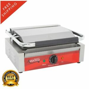Commercial Restaurant Panini Sandwich Grill Press Griddle Smooth 13 X 8 3 4
