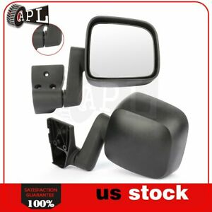 Manual Side Mirrors For 2003 2006 Jeep Wrangler Tj