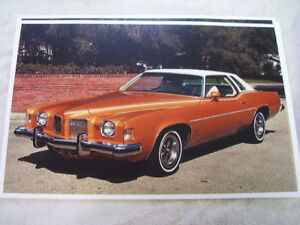 1973 Pontiac Grand Prix Color 11 X 17 Photo Picture