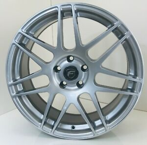 Forgestar Wheel Set 19x8 5 19x9 5 F14 Hyper Silver 5x115 Rims 300c Challenger Gm