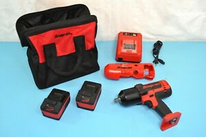 Snap on Ct8850 18v Li ion 1 2 Dr Impact Socket Wrench Gun Set Tool Bag Minty